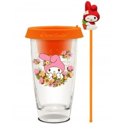 2019 NEW Release!! SANRIO Glass Cup / Desktop Flower Pot ASIA Limited – My Melody Orange Version