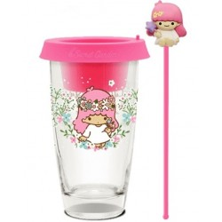 2019 NEW Release!! SANRIO Glass Cup / Desktop Flower Pot ASIA Limited – Little Twin Stars Lala Pink Version