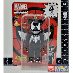 MARVEL New Bearbrick Be@rbrick Unbreakable 100% Black Venom of Spiderman Medicom 4Toy No.