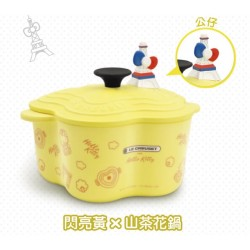 Hello Kitty x Le Creuset Seven Eleven Market Taiwan Limited Bamboo Pot-Bowl w/ Figure SANRIO OFFICIAL 2018 – Yellow color ver