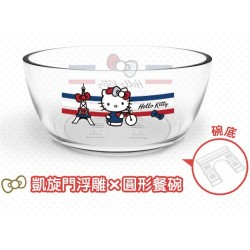 Hello Kitty x Le Creuset Limited Glass Bowl SANRIO OFFICIAL Seven Eleven Market Taiwan 2018 - ROUND Ver.