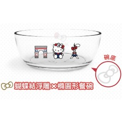 Hello Kitty x Le Creuset Limited Glass Bowl SANRIO OFFICIAL Seven Eleven Market Taiwan 2018 - OVAL Ver.