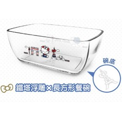 Hello Kitty x Le Creuset Limited Glass Bowl SANRIO OFFICIAL Seven Eleven Market Taiwan 2018 - RECTANGLE Ver.