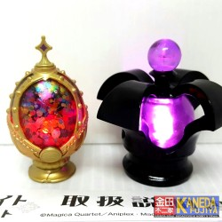 BANDAI RARE! Puella Magi Madoka Magica Movie LED COLOR CHANGING LIGHT: Homura's Cracked Cursed Soul Gem & Homulily's Dark Orb