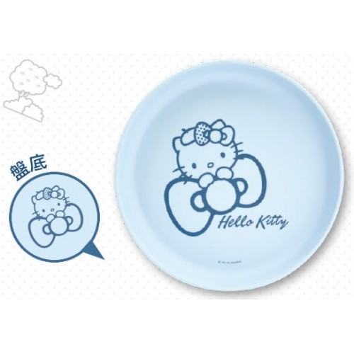 Hello Kitty x Le Creuset BIG Size Limited Dish SANRIO OFFICIAL Seven Eleven Market Taiwan 2018– Blue Circle version