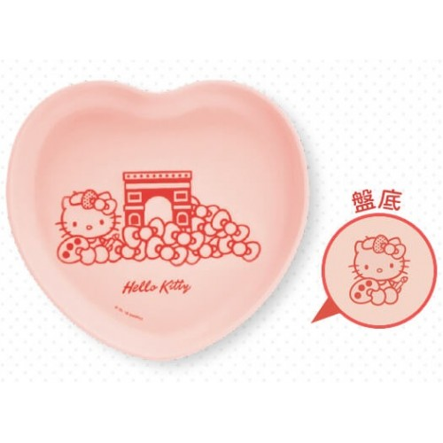 Hello Kitty x Le Creuset BIG Size Limited Dish SANRIO OFFICIAL Seven Eleven Market Taiwan 2018 – Pink Heart Shape version