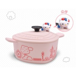 Hello Kitty x Le Creuset Seven Eleven Market Taiwan Limited Pot-Bowl w/ Figure SANRIO OFFICIAL 2018 – Pink colour version