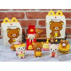 Rilakkuma McDonald's Happy Meal Toys, Desktop Play - Complete Set of 8 Asia Limited Ed. 2017
