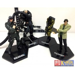 KONAMI YAMATO AUTHENTIC Metal Gear Solid 2 Substance & Sons of Liberty, SET of 4pcs. Figures RARE & GREAT Quality