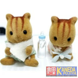 Sylvanian Families Walnut Squirrel Twins Baby Epoch - Forest family JAPAN
