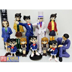 DISCONTINUED ORIGINAL Detective Conan Trading Art Figure 11 pcs Set RARE Antique