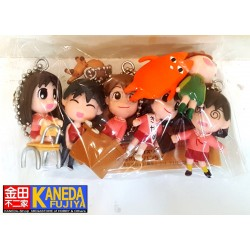 Bandai Azumanga Daioh Part.3 Prize Swing Keychain Charm Set of 6