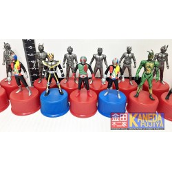 *Outlet* Seven Eleven Limited Masked Rider & Ultraman Bottle Cap Color + Silver Ver. 21 Pcs. Set