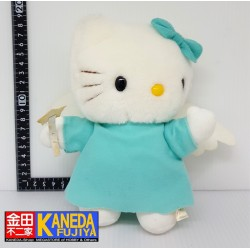 SANRIO Hello Kitty Miraculous Angel Version Light Blue Plush Doll (H18cm approx)