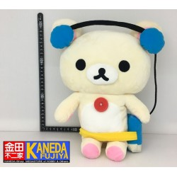 San-X Korilakkuma Headphones MP3 Big Size Plush Doll Listening to Music Ver. (30cm approx.)