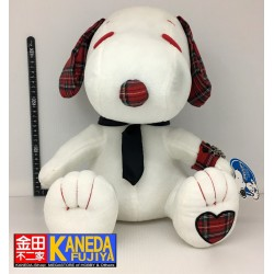 PEANUTS Snoopy BIG SIZE Soft Plush Doll Retro Scottish Pattern Ver. Original from Japan (35cm approx sitting)