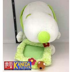 PEANUTS Snoopy Large Plush Doll Light Green Photograph Picture Photo Frame Ver. (30cm approx.)