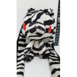 CHAX GP Hanyo Usagi Gloomy Bear Bunny Animal Print Zebra Strap Charm Keychain Plush Doll Toy 13cm Approx.