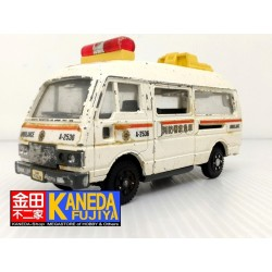 YONEZAWA Diapet Nissan Caravan Ambulance Van Model Car ANTIQUE - Made in JAPAN