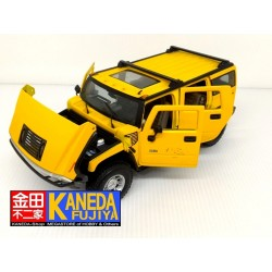 MAISTO Hummer H2 SUV Yellow Special Edition Model Car Scale 1/18