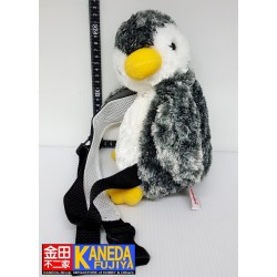 Penguin Soft Plush Backpack Doll Grey Version Stuffed Animal Japan (H22cm approx. body size)