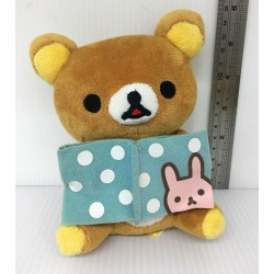 San-X Rilakkuma - Reading Studying Relax Bear Plush Doll Japan (H14cm approx.)