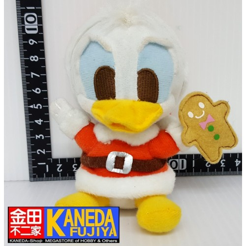 DISNEY Donald Duck Cute Plush Doll Christmas Xmas Ginger Cookie Ver. Keychain Charm Strap (12cm approx.)