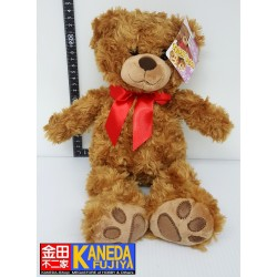 Small Bear - Brown Teddy Bear Soft Stuffed Animal with Ribbon from Japan (H35cm approx.)