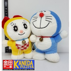 Doraemon & Dorami Plush Doll Set SEGA Toys Japan (H18cm approx.)