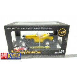 Lightup Classiccar 1/64 scale Classic Yellow Car with Led box Exhibitor – RARE ITEM!