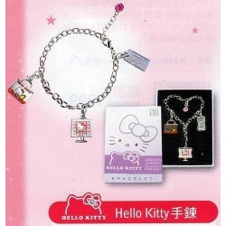 TAIWAN 7-11 Limited Ed. HELLO KITTY BRACELET WITH CHARMS SET