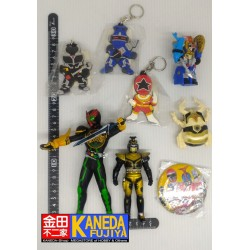 Special Lot Kamen Masked Rider Set of 8 (Vinyl Figures, Keychains Straps, Charms, Pin, Toys)