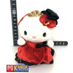 "SANRIO Hello Kitty Universal Studios Japan Red Princess Plush Mascot Charm 2008 LIMITED EDITION 4.5""/11.5 cm Approx."