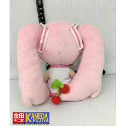 Sakura Miku Vocaloid Plush Doll Hastune Miku Cherry Blossom Style Limited Edition Amusement Game Prize TAITO Japan 17cm/6.5""