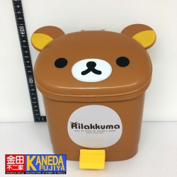 San-X Rilakkuma Relax Bear Dust Box Trash Can Dustbin Wastebasket Brown Bin