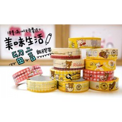 Rilakkuma Relax Bear Message Paper Tape Adhesive 7-11 Limited Edition 2014 - Random Styles