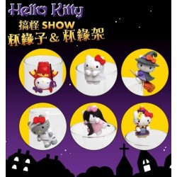 Hello Kitty ハローキティ Authentic Sanrio サンリオ 2016 Halloween Limited 6 pcs. Set (Edge of cup figures / Hanging Toys)