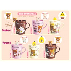 San-X Rilakkuma / Relax Bear Family, 10th Years Anniversary BIG MUG CUP (420ml) + Stirring Stick (KORILLAKUMA A version)
