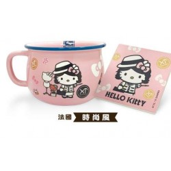 Sanrio Hello Kitty Cosplay Celebrities BIG Porcelaine Mug Cup, Ramen Bowl + Coaster – Pink Elizabeth Taylor Limited