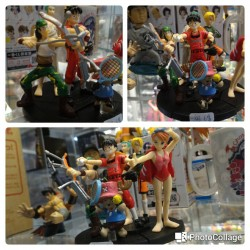 One piece  - Set of 5 Gashapon Figures (Luffy, Nami, Zoro, Sanji, Usopp, Chopper)