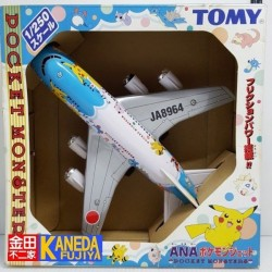 RARE! TOMY Pocket Monsters POKEMON Ana Japan Airlines 1/250 Scale Airplane Jet Model