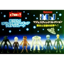 AKUTAGAWA Majestic Collection UFO Alien Extraterrestrial Figure Complete Set of 8