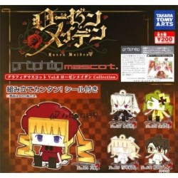 TAKARA TOMY Rozen Maiden Collection Graphing Mascot Vol.6 Mini Keychain Complete Set of 5