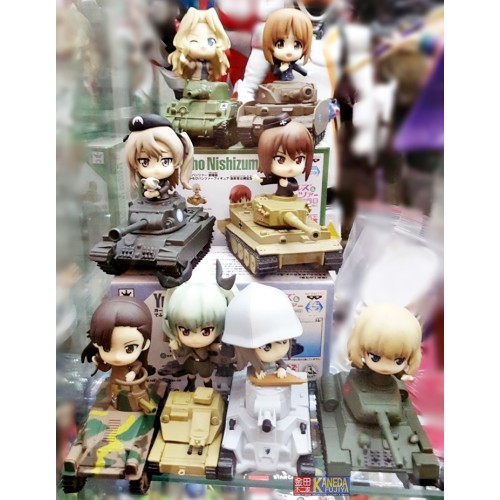 BANPRESTO Prize Girls und Panzer Ichiban Kuji 8 pcs SET Authentic RARE Tanks