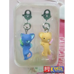 CLAMP Card Captor Sakura Kero & Souppy Kerberos Spinel Sun Key Chain Phone Strap Charm Holder New Very Rare