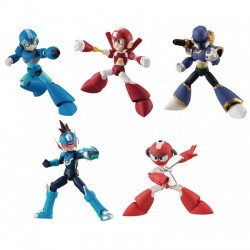 BANDAI 66 Action Dash Megaman Rockman Vava Vile Cutman Star Force X Super Armor Figure Set of 5 pieces
