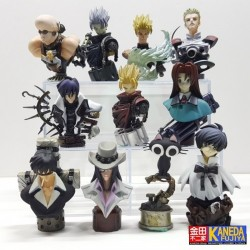 KAIYODO Trigun The Planet Gunsmoke Vash The Stampede Gashapon Bust Figure Set of 11PCS