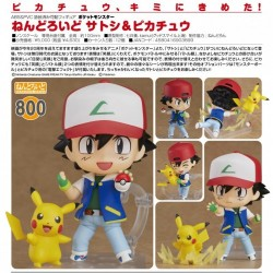 POKEMON Ash Ketchum Satoshi & Pikachu Pocket Monsters Nendoroid 800 Figure by Good Smile Company