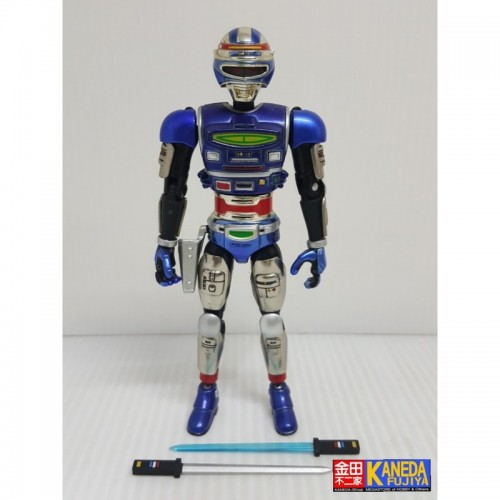 Kamen Rider Souchaku Henshin Series Space Sheriff Shaider Die-Cast Posable Articulable Figure by Bandai