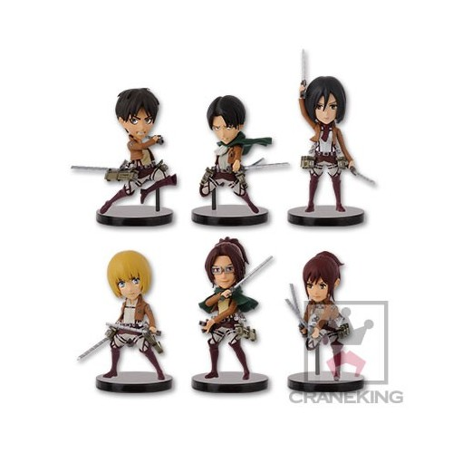Attack on Titan World Collectable Figure WCF Vol. 1 by Banpresto Set of 6 Pieces